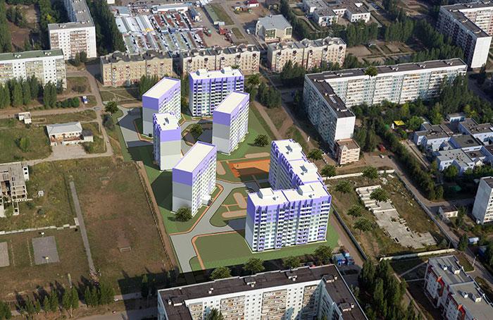 Новые дома от КПД-2 на Киевском бульваре